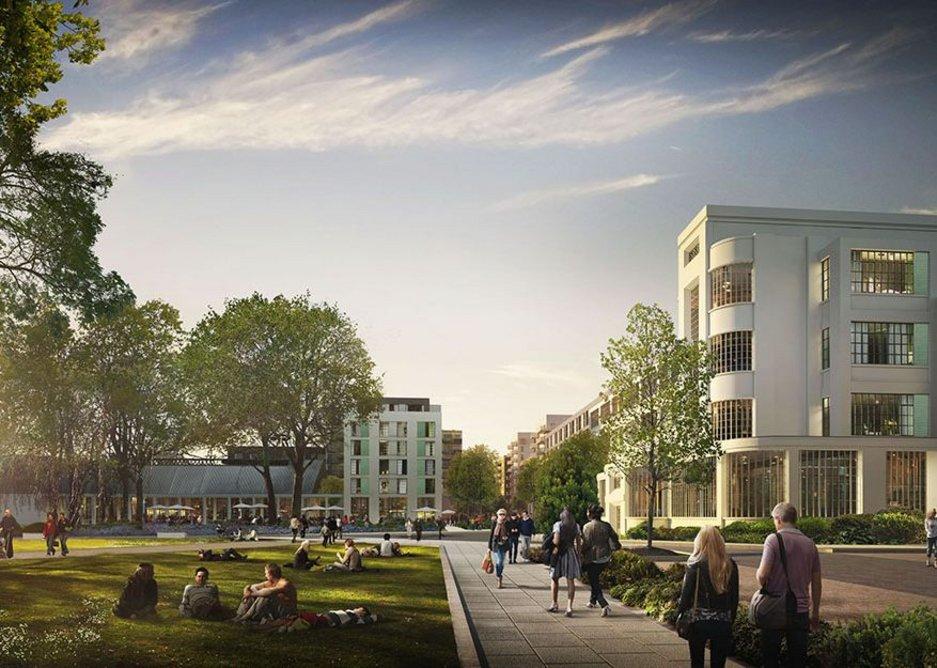 The Nestle Factory, Hayes — Makower Architects, Hawkins Brown, DMFK and Barratt London.