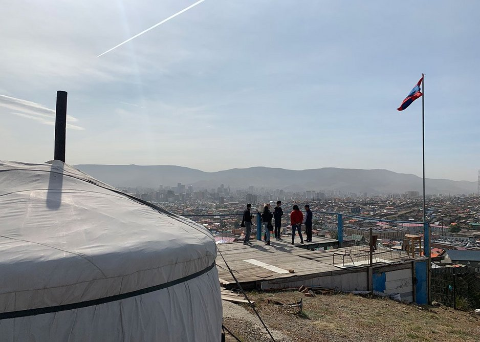 Community centre overlooking the ger district, Ulaanbaatar, Mongolia, 2019. CCA Collection. From The Things Around Us, an exhibition at the CCA in Montreal.