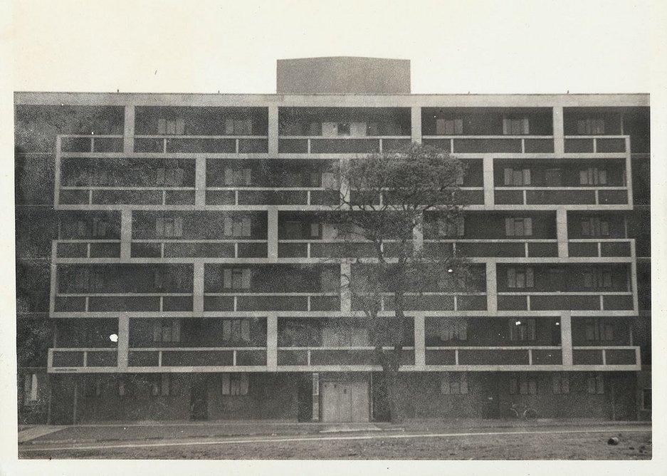 The Hallfield Estate (1952-1955), Bishops Bridge Road, W2, London, designed by Tecton, Drake and Lasdun for Paddington Borough Council.