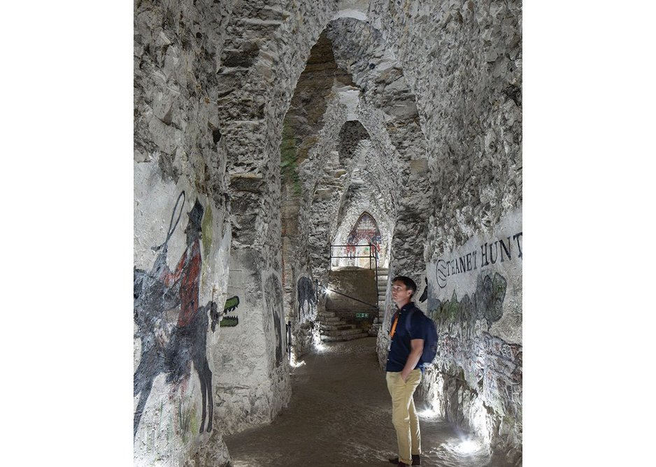 Nearly every old house in Margate has a cave of some sort under it but the majestic Margate Caves are the largest known ones. Murals were added up until the 1980s. Restoring them will require another round of funding.
