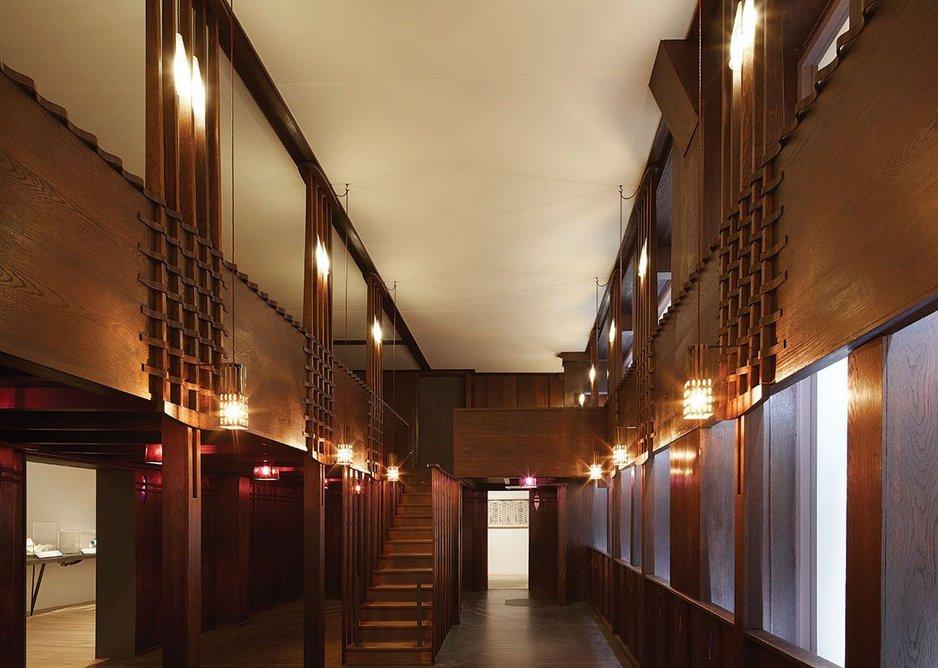 Mackintosh's 'Oak Room' is a complete surviving 1908 Miss Cranston tea room interior, minus furniture.