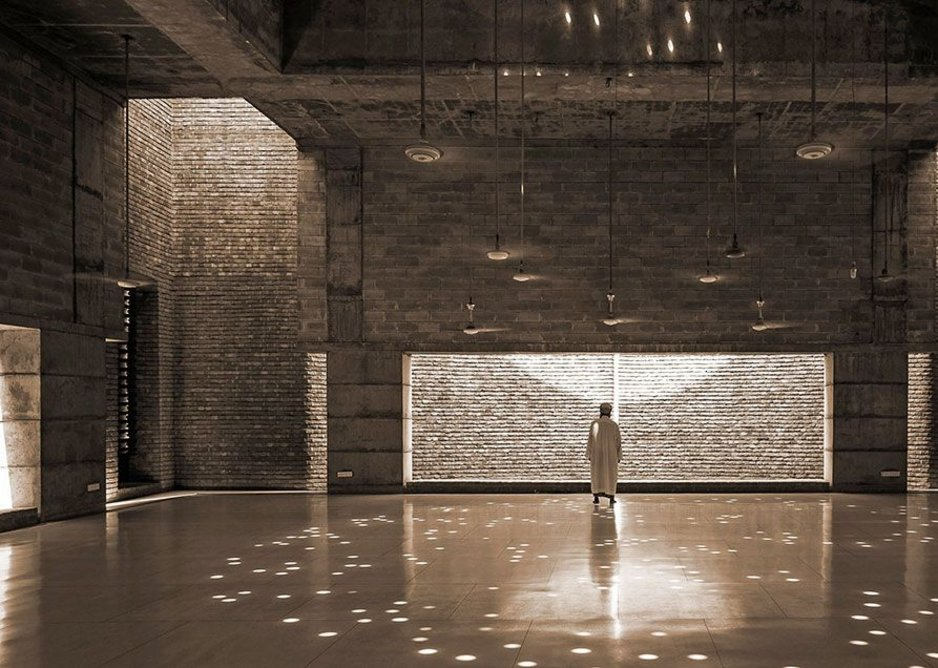 Prayer Hall of Bait ur Rouf Mosque in Dhaka, designed by Marina Tabassum, joint winner of the Jameel Prize.