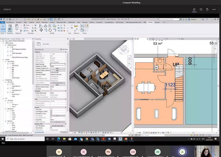 Revit demonstration page from DMA's Virtual Design Academy hub