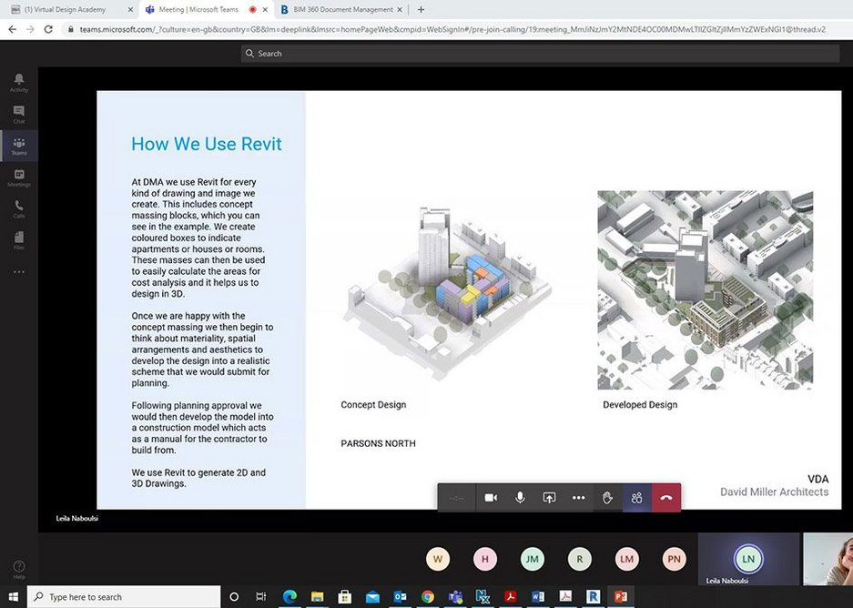 'How We Use Revit' page from DMA's Virtual Design Academy hub