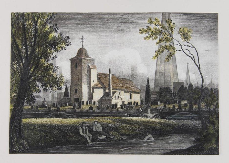 St Pancras Old Church and Fleet River.