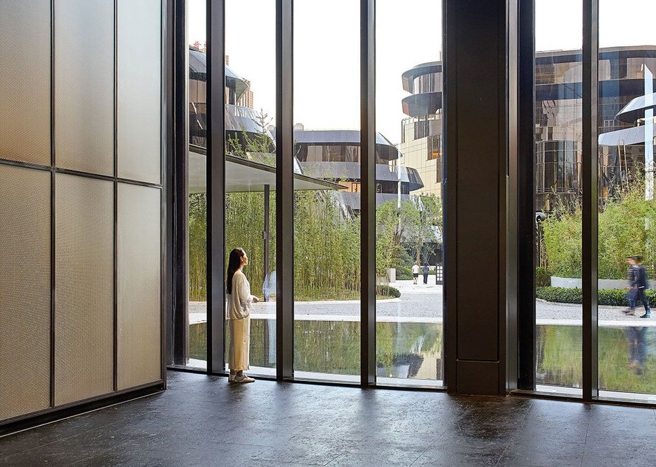 Hills and landscape: Chaoyang Park plaza as an expression of China's natural landscape.