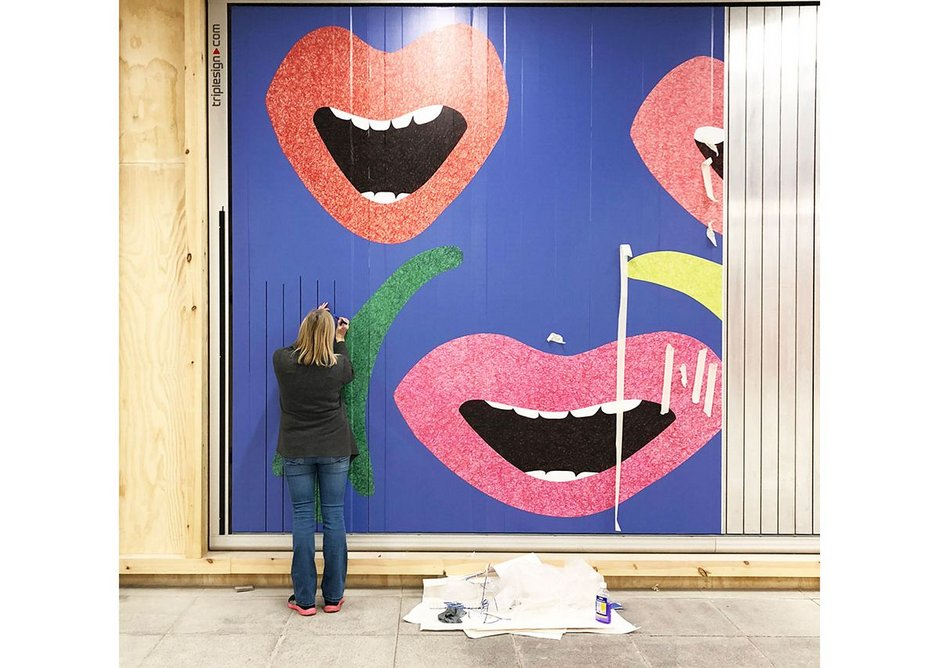 Wal Pawb – art on a billboard, specially commissioned annual pieces are planned. Tŷ Pawb, Wrexham.
