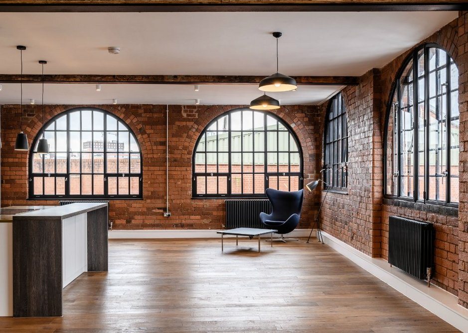 Inside one of the converted apartments at Squirrel Works.