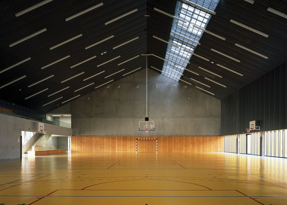 The multi-use sports hall can be used by the school or booked by the local community.