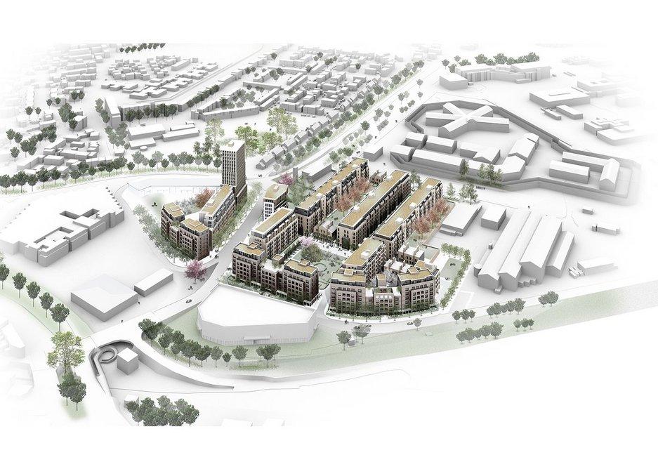 West Thamesmead Gateway designed by Lifschutz Davidson Sandilands architects for Peabody.