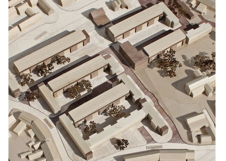 Model of slab blocks of Hillington Square.