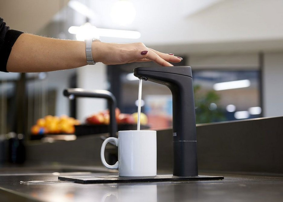Billi Eco with XT Touch Dispenser in Matte Black.