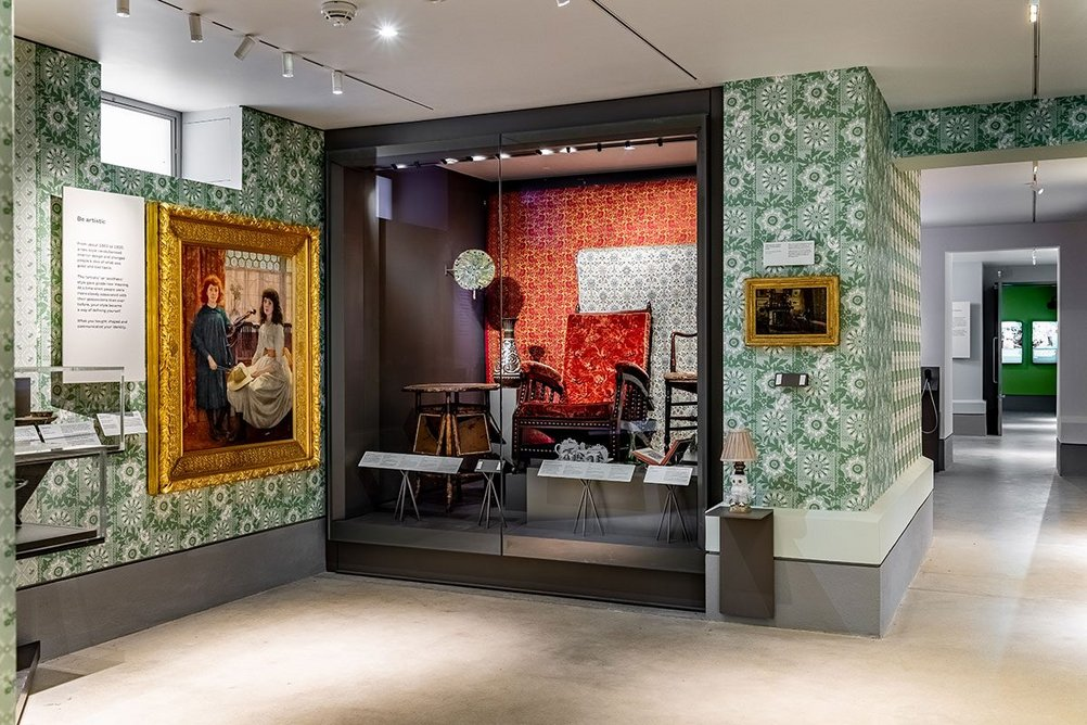 Display within the Home Galleries, located in the new basement exhibition space created by Wright & Wright. Exhibition design is by ZMMA.