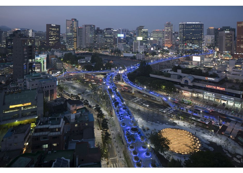 MVRDV's Seoullo 7017 Skygarden in Korea: the project that transformed a disused urban highway into a botanical walkway has received more than 2 million visitors since it was opened in early May.
