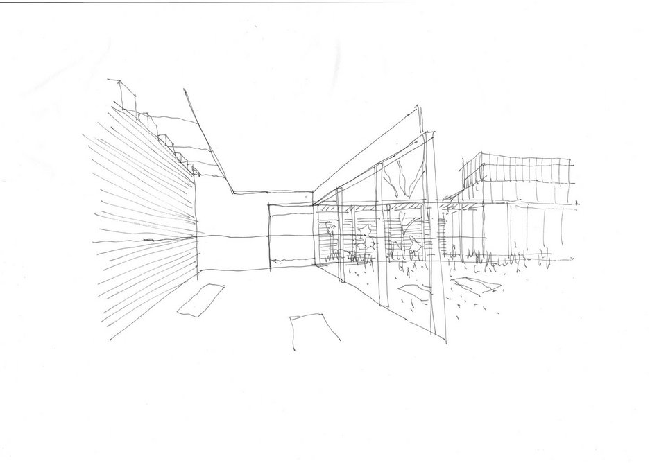 Early sketch of the education room.