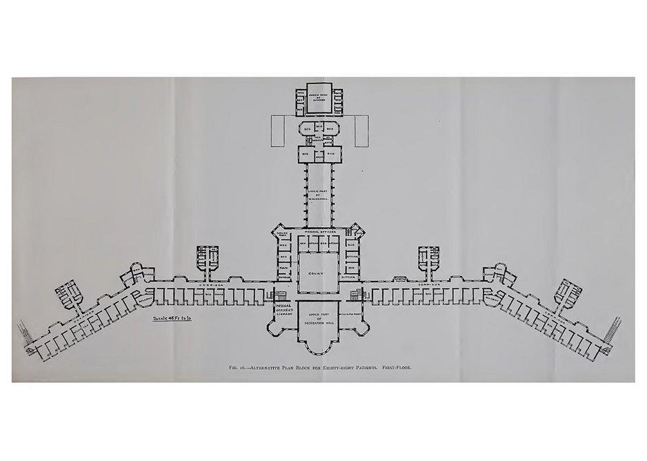 Augustus William West competition-winning sanatorium plan from 1901.