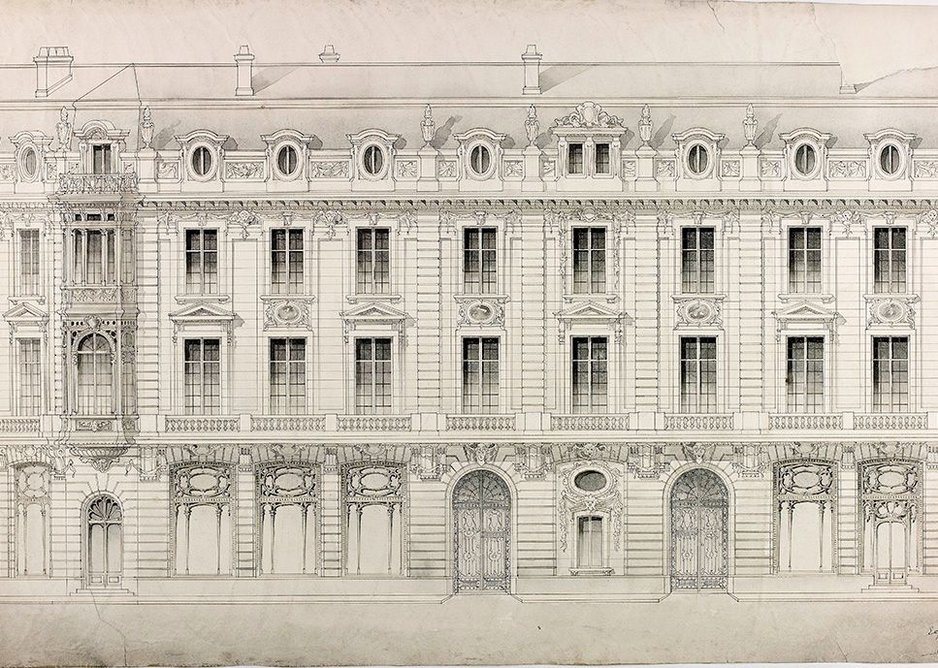 Design for an apartment block, 1893.