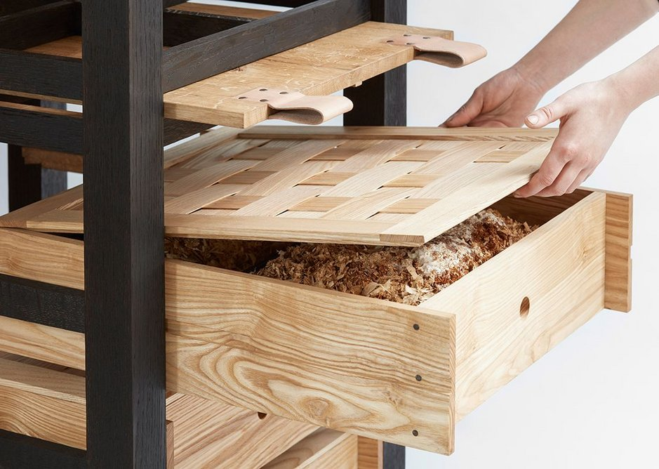 Bespoke category - Pantori by Steph Leake, inern at Jack Badger Ltd. It's a freestanding pantry larder in European oak and English Ash.