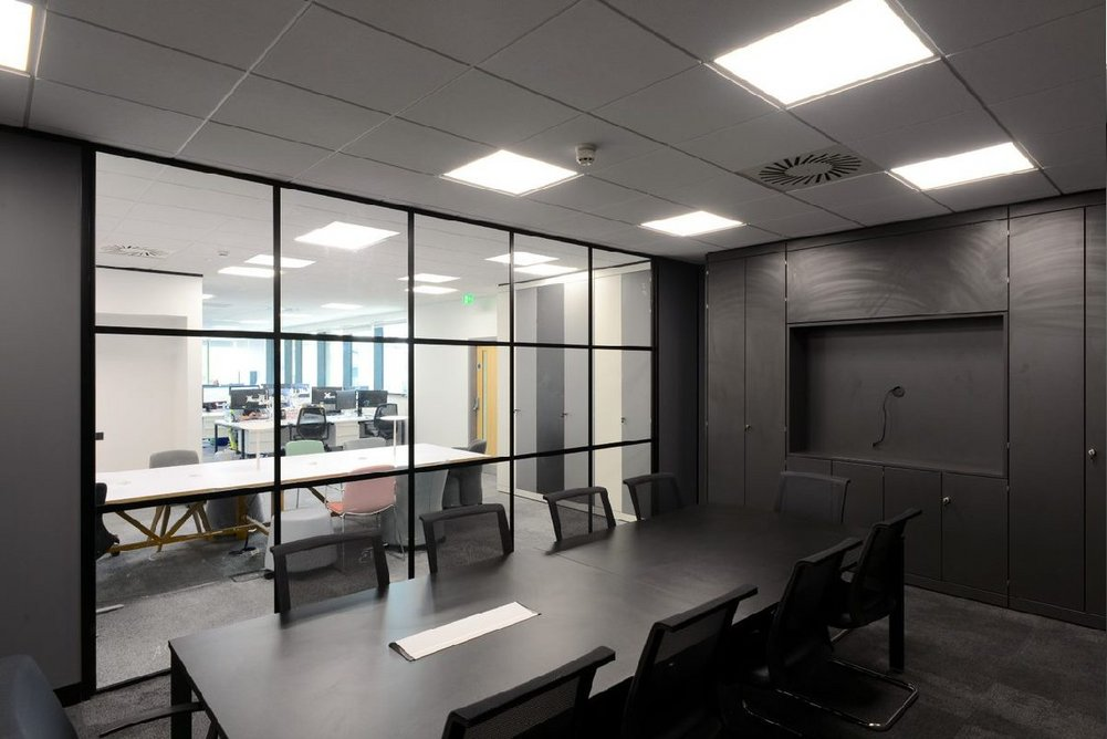 Dune eVo MicroLook ceiling tiles at the Capital Quarter development, Cardiff.