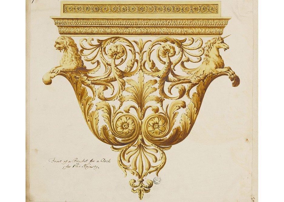 Clock bracket, Buckingham House, The Mall, c1761-6.