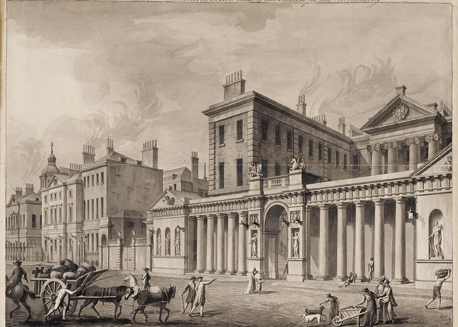 Adam had this drawing of Admiralty Screen produced as a plate.