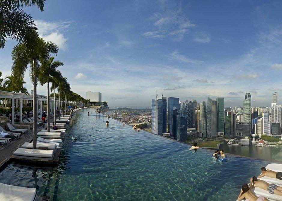 The SkyPark at Marina Bay Sands, Singapore.