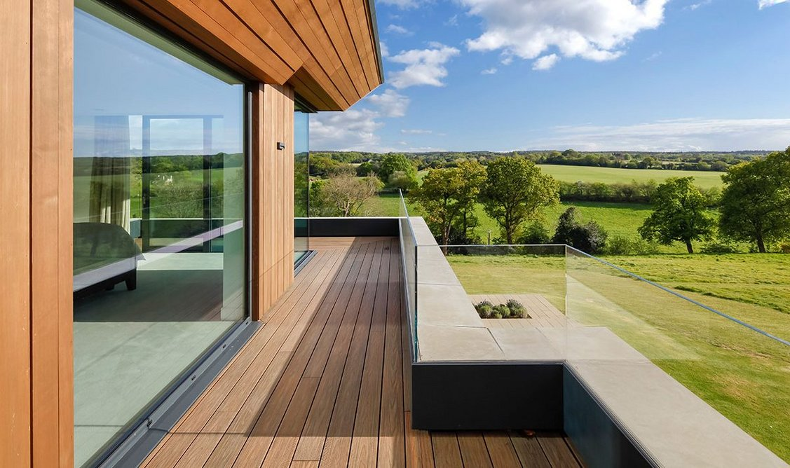 A wraparound balcony makes the most of the views.