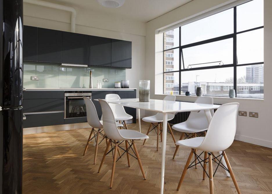 Apartment kitchen.