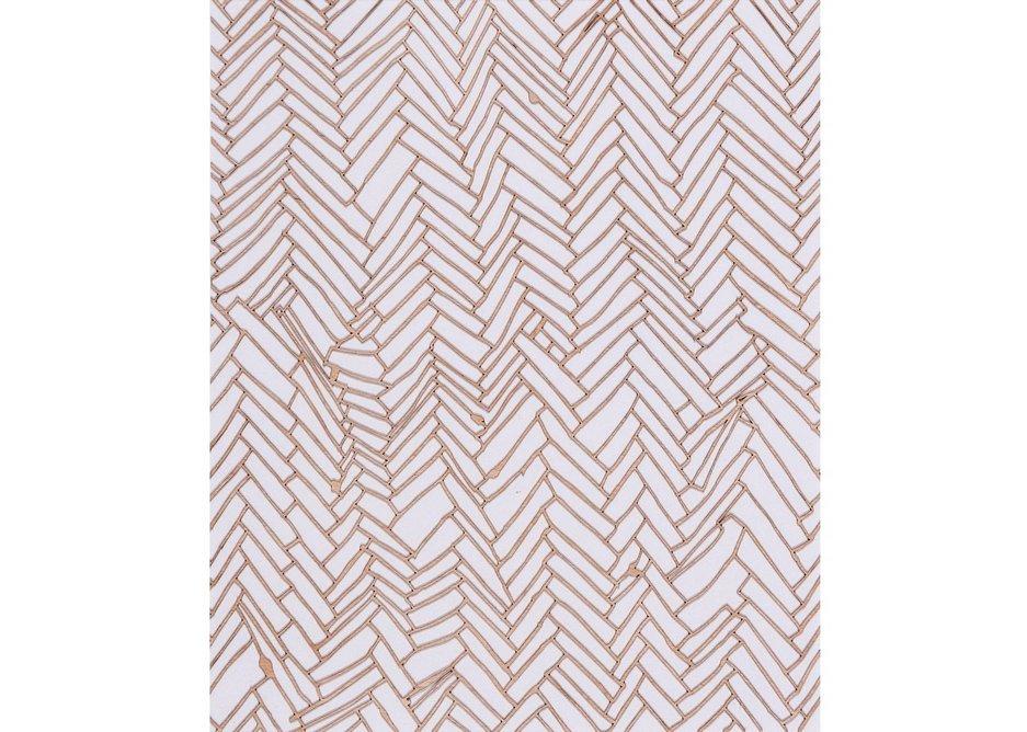 Herringbone Floor, Rachel Whiteread, 2001m laser-cut relief in 0.8mm Finnish birch, 51x44cm.
