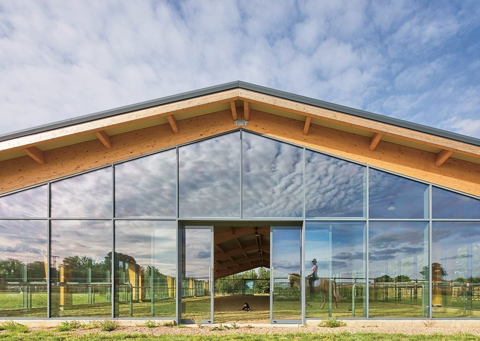Glazed gable ends mean views straight out onto the landscape.