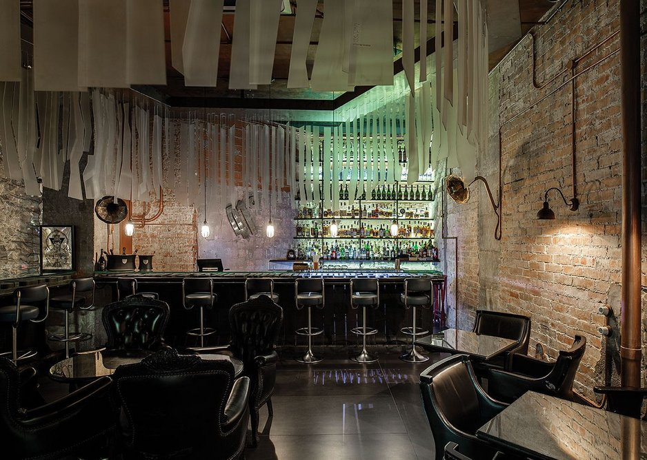 Closing a fantastical journey, the bar, recreated from a previous Adrià project, strikes a disconcertingly different tone.