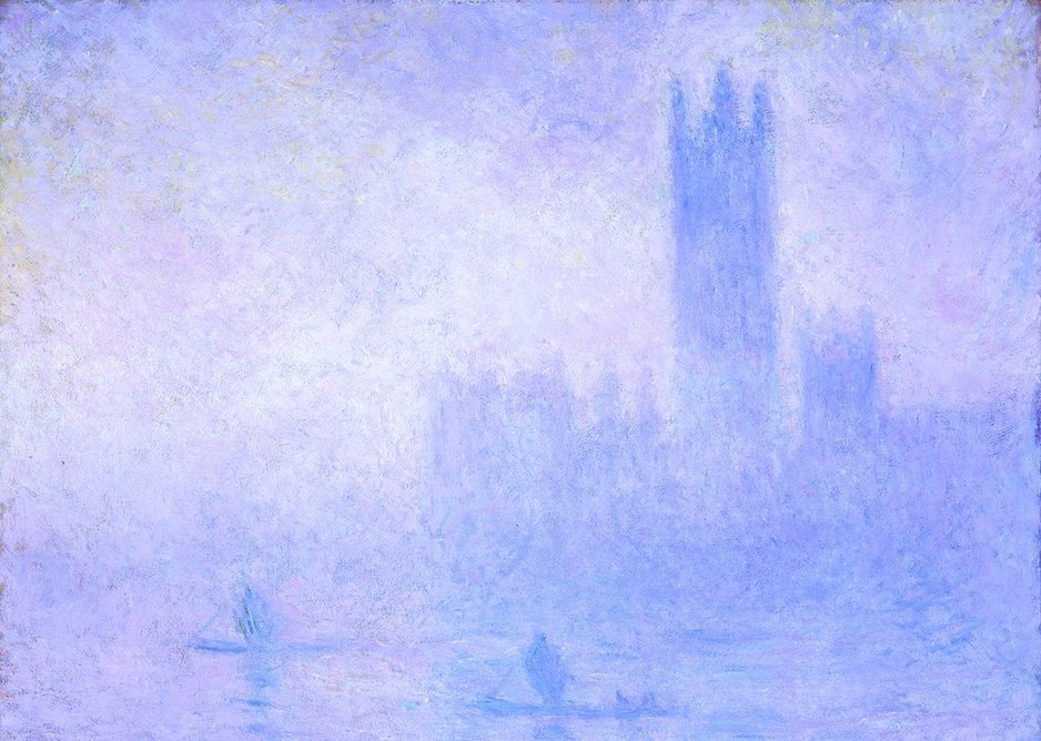 Claude Monet, The Houses of Parliament, Fog Effect (Le Parlement, effet de brouillard), 1904.