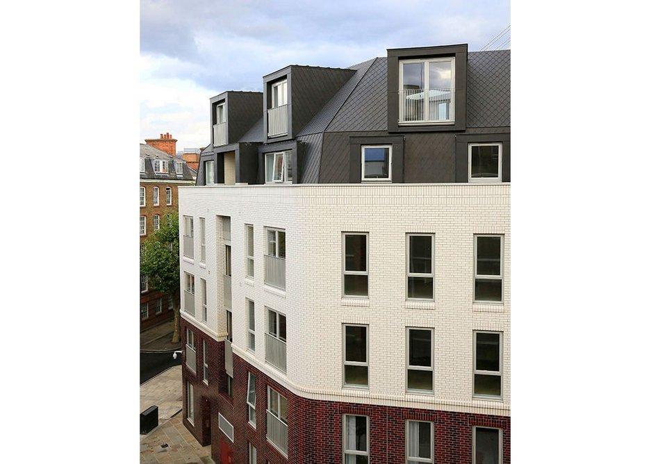 Anthra-Zinc Plus shingles at The Bourne Estate, Clerkenwell. Matthew Lloyd Architects.