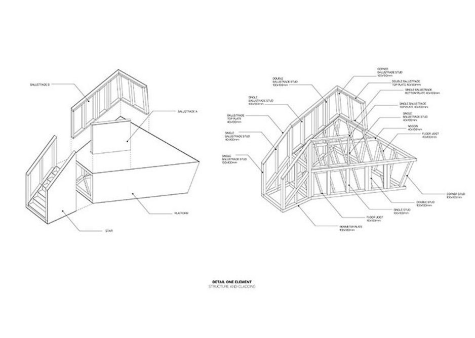 Drawings for Proto-Selfbuild by Matthijs La Roi and Simone Tchonova.