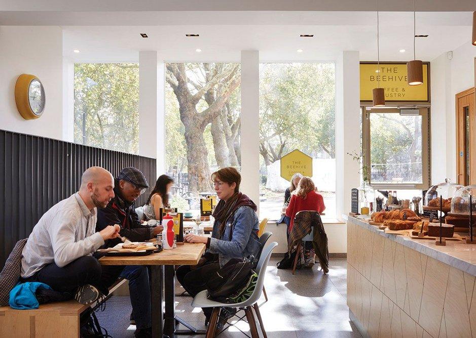 The community café, which is run as a social enterprise.