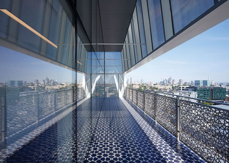 Terrace of Discovery on the ninth floor looks out over London.