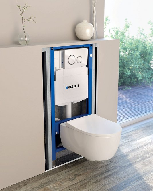 Duofix concealed cistern Sigma21 with iCon WC.