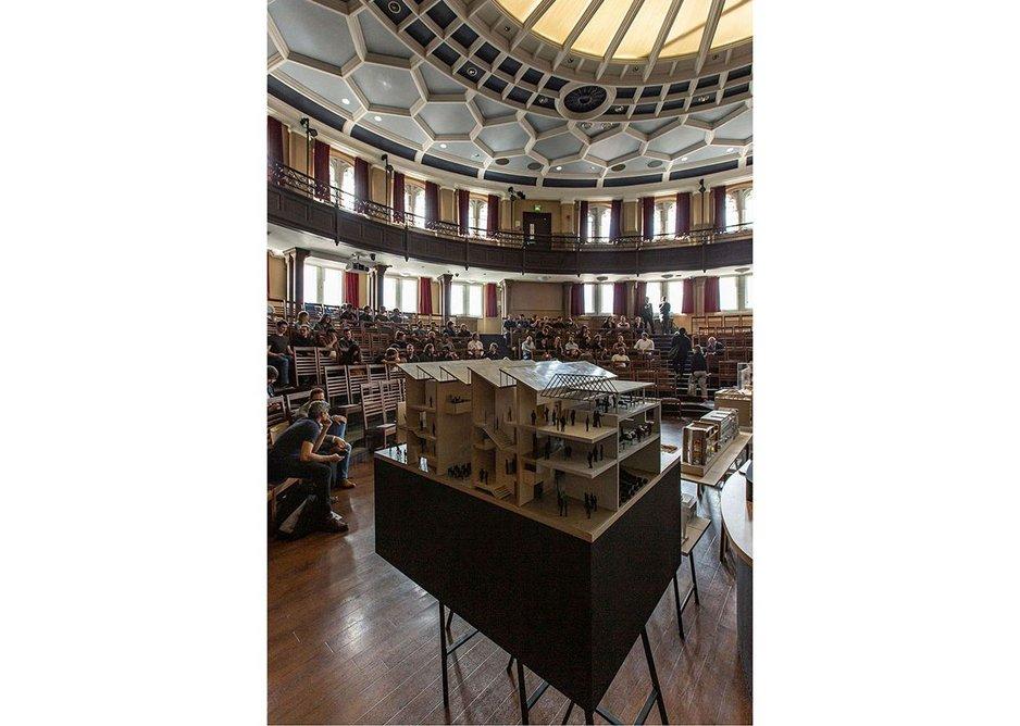 Competitors' architectural presentations.