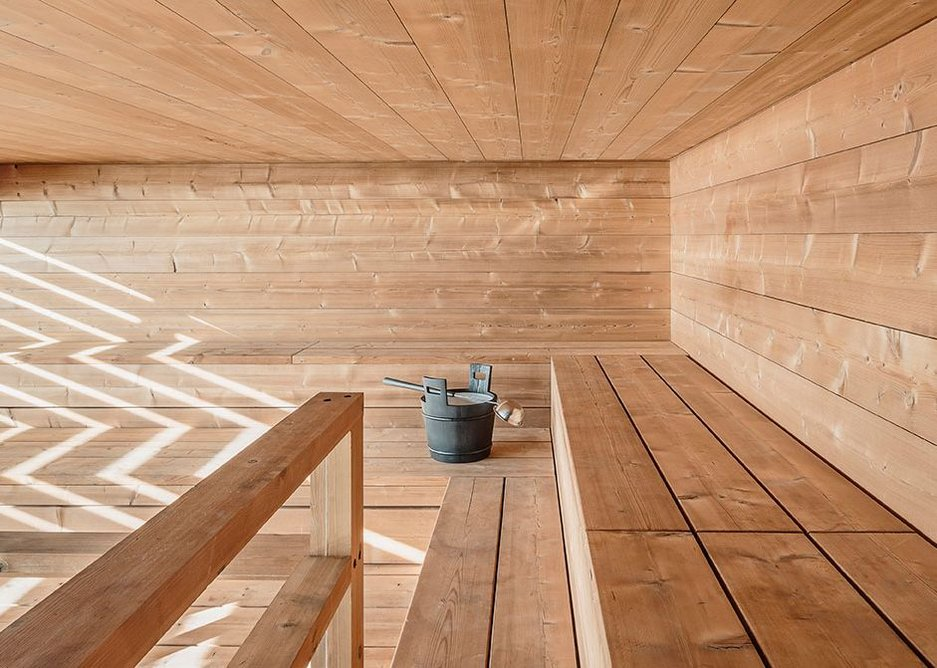 Scenery sauna.