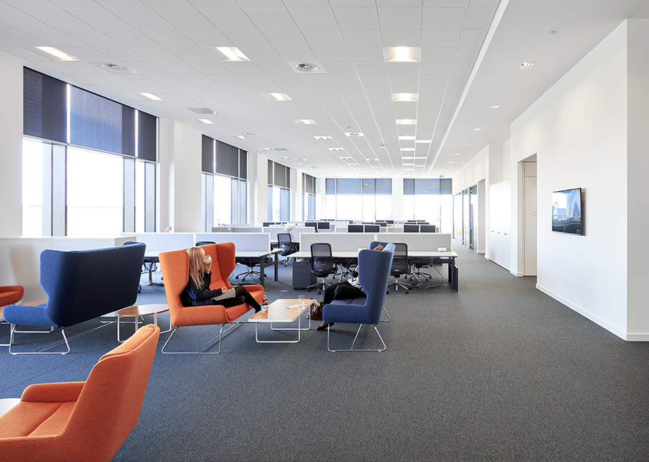 Zentia ceiling tiles at Aker Solutions in Aberdeen.