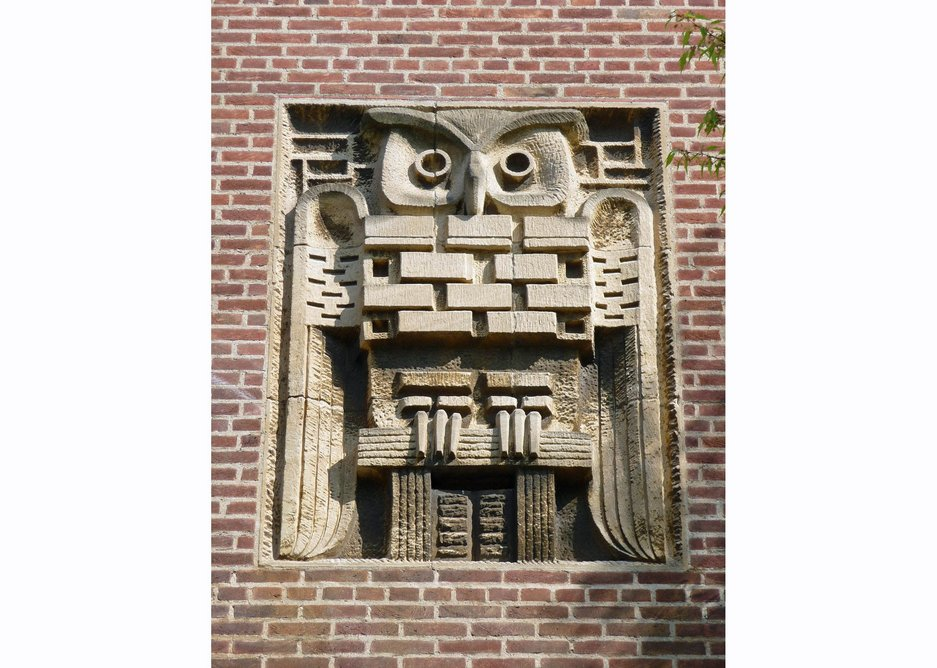 Art and architecture -  the owlish Larkin got on well with sculptor Willi Soukop.