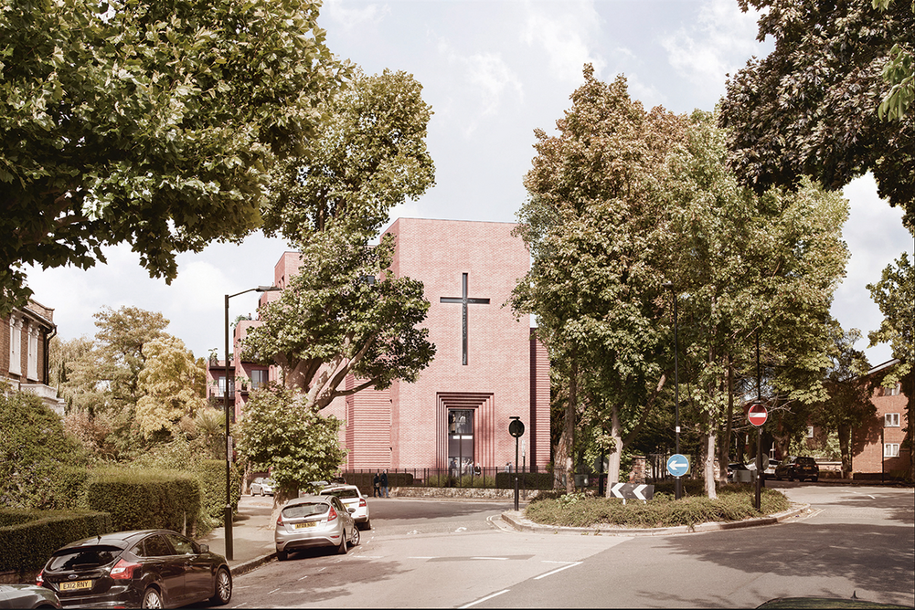 Highbury Quadrant Congregational Church – a rebuilt worship space from the front; alarge apartment block from behind..