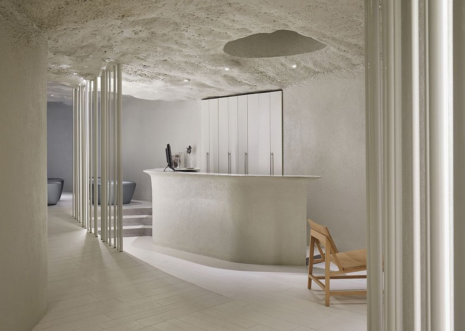 Neolith Sintered Stone is 100 per cent natural, which appealed to architect Pau Llimona because he wanted to evoke a naturally occurring event.
