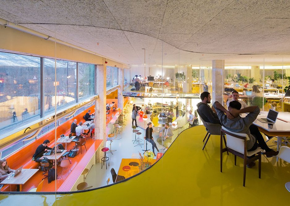 Second Home, a co-working office in Whitechapel designed by Spanish practice Selgas Cano.