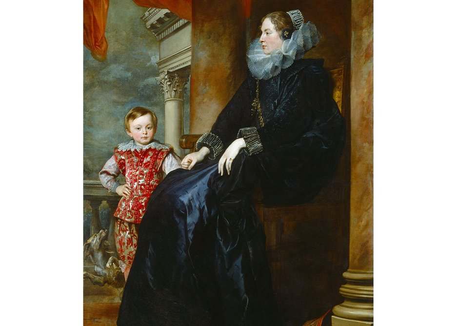 Sir Anthony van Dyck, A Genoese Noblewoman and Her Son, c. 1626.