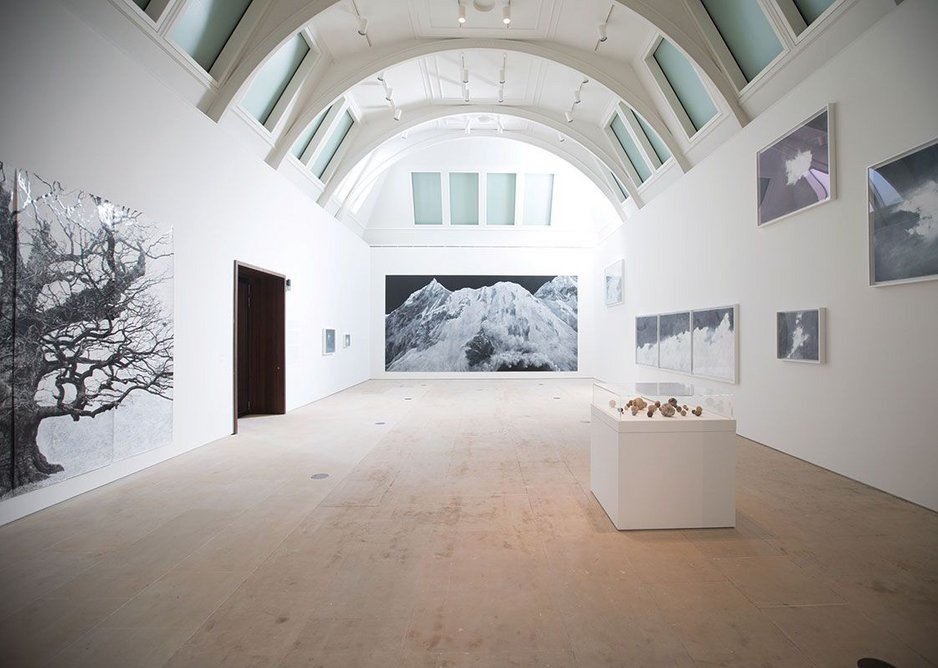Gallery view of the opening Tacita Dean landscape exhibition.
