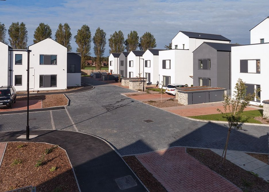 The homes have been built on the site  of sheltered housing  that had passed its  sell-by date.