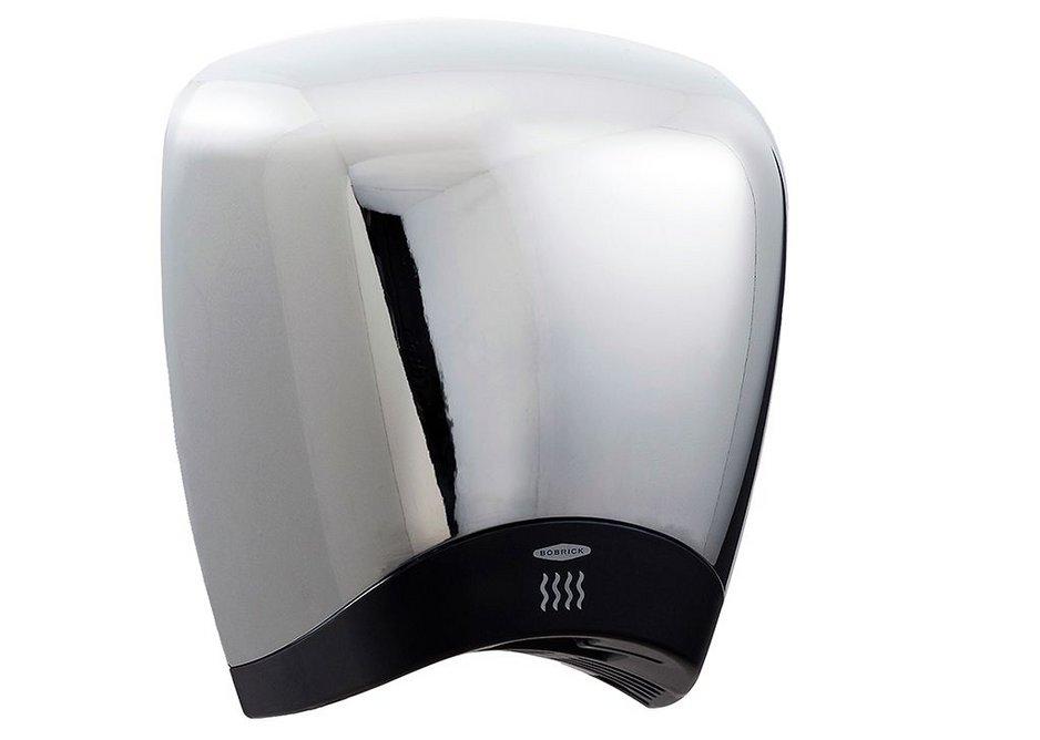 The sleek styling of Bobrick's QuietDry Series DuraDry B-778 hand dryer.