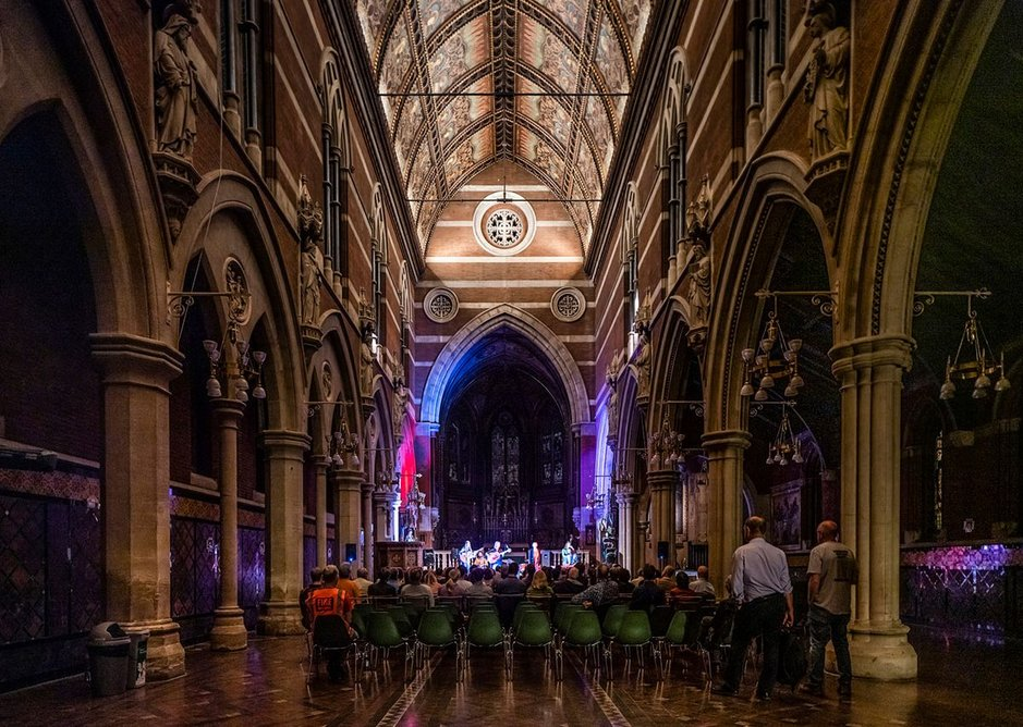 Music event in nave
