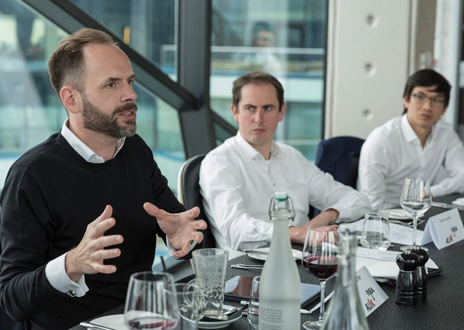From left to right: Zaha Hadid senior associate Nils Fischer, Simon Lamprell and Marvin Chik.